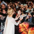 """Jennifer Lawrence - Arrivées des people à la première du film """"Hunger Games"""" La révolte Partie 2"""" au Grand Rex à Paris le 9 novembre 2015."""