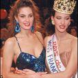 Archives- Mareva Georges et Linda Hardy, élue Miss France 1992.