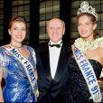 Archives- Gaelle Voiry, Miss France 1990 (décédée en 2019) et Mareva Georges, Miss Tahiti 1991.