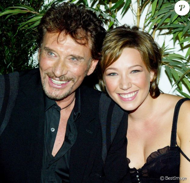 Johnny Hallyday et sa fille Laura Smet.