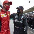 Sebastian Vettel et Lewis Hamilton - Formule 1 - Grand Prix automobile de Turquie à Istanbul le 15 novembre 2020 © Motorsport / Panoramic / Bestimage