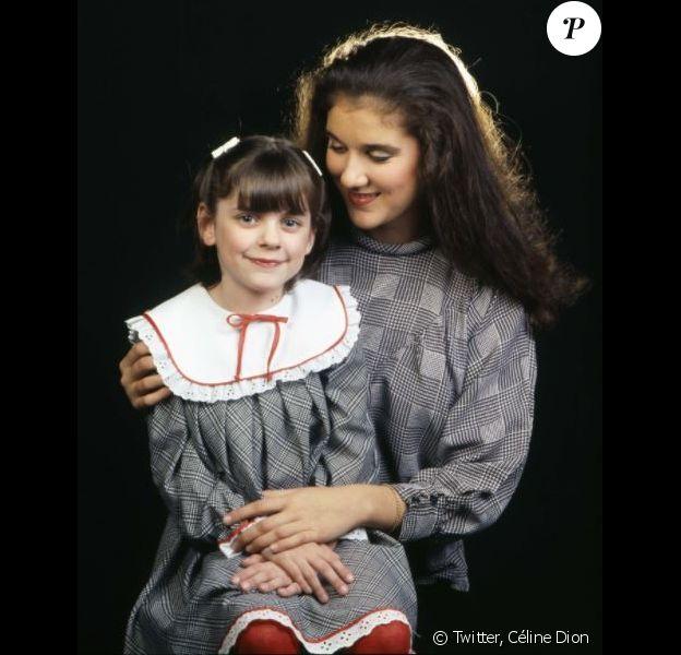 Céline Dion posant avec sa nièce Karine morte à l'âge de 16 ans, après un long combat contre la fibrose kystique.