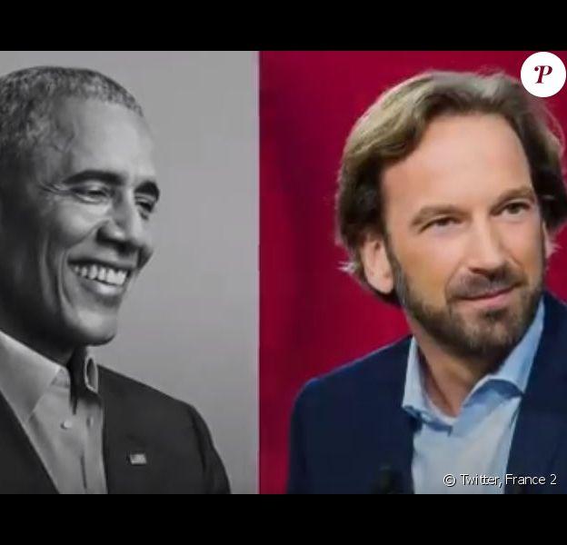 """François Busnel a réalisé une interview exclusive de Barack Obama pour la sortie de ses Mémoires, """"Une Terre promise"""". Diffusion sur France 2."""