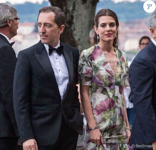Charlotte Casiraghi et son compagnon Gad Elmaleh - Arrivées pour la soirée de mariage de Pierre Casiraghi et Beatrice Borromeo au château Rocca Angera (château appartenant à la famille Borromeo) à Angera sur les Iles Borromées, sur le Lac Majeur.