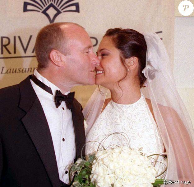 Mariage de Phil Collins et d'Orianne Cevey à l'hôtel Beau-Rivage de Lausanne, en Suisse.