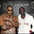 Busta Rhymes et Akon à l'anniversaire de Jean Roch (VIP Room de Paris, 3 octobre 2009)