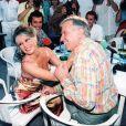 Brigitte Bardot et Roger Vadim à Saint-Tropez en 1995.