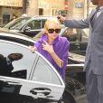 Lindsay Lohan arrivant au défilé Ungaro à Paris le 4/10/09
