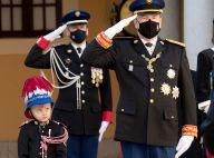 Albert de Monaco très ému : les larmes aux yeux, le prince épaulé par son jeune héritier
