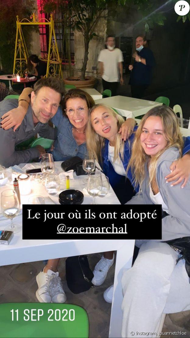 Alexandra Lamy, son ex-compagnon Thomas Jouannet et leur fille Chloé, avec Zoé Marchal, sur Instagram le 11 septembre 2020.
