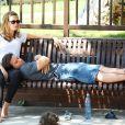 Mark Wahlberg, sa femme Rhea, et leurs trois enfants, lors d'une pause détente et intime à Beverly Hills, à Los Angeles, en octobre 2009 !