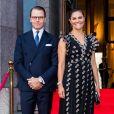 La princesse Victoria de Suède et le prince Daniel assistent à l'ouverture de la saison de l'orchestre philharmonique royal à Stockholm le 17 septembre 2020.