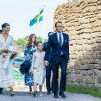 La princesse Victoria de Suède, la princesse Sofia (Hellqvist) , la princesse Estelle, le prince Daniel - La famille royale de Suède se retrouve au palais Solliden pour le Victoria Day, l'anniversaire de la princesse Victoria de Suède à Borgholm le 14 juillet 2020.