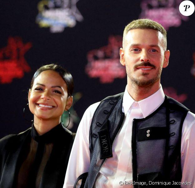 Christina Milian enceinte et son compagnon Matt Pokora (M. Pokora) - 21ème édition des NRJ Music Awards au Palais des festivals à Cannes. © Dominique Jacovides/Bestimage