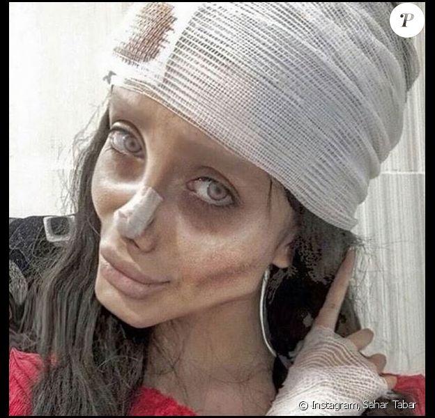 Sahar Tabar, sosie d'Angelina Jolie.