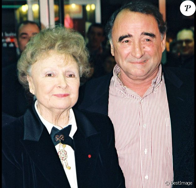 Odette Joyeux et Claude Brasseur à Beauvais le 22 mars 1998.