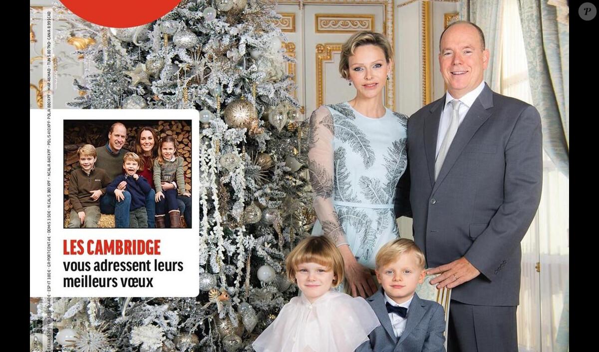 Charlene de Monaco : Princesse des neiges avec Albert et les enfants pour la carte de voeux 2020