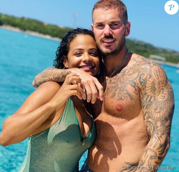 M. Pokora et Christina Milian lors de vacances