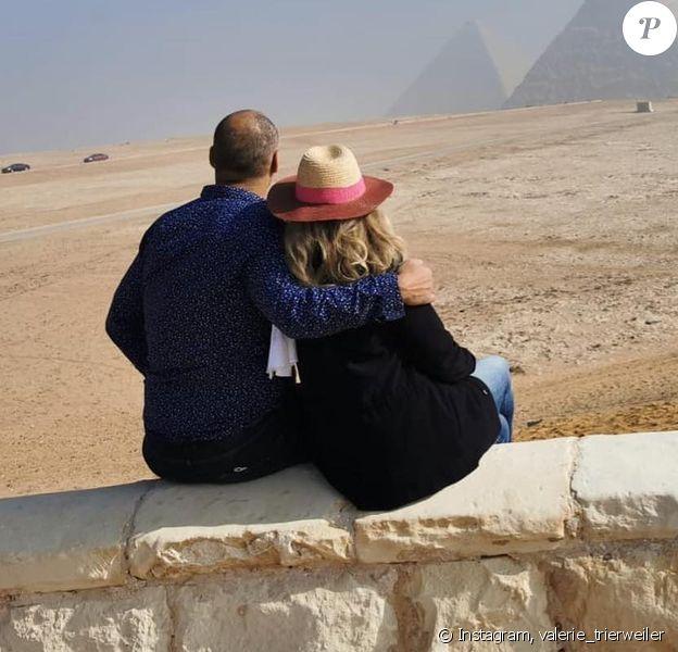 Valérie Trierweiler a partagé des photos de son séjour en Egypte, sur Instagram. Ici avec son amoureux Romain Magellan.