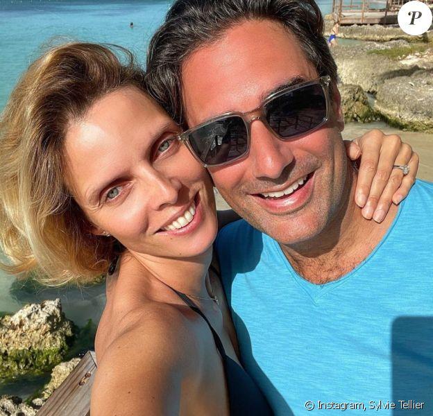 Sylvie Tellier et son mari Laurent sur Instagram.