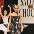 Claire Borotra au salon du chocolat (13 octobre 2009)