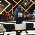 """Exclusif - Dadju, Lauriane, son mari Jean-Luc et leur fils Corentin - Enregistrement de l'émission """"La Lettre"""", présentée par S.Davant, qui sera diffusée le 16 janvier 2021 sur France 2. Le 16 octobre 2020 © Cyril Moreau / Bestimage"""