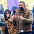 Jennifer Lopez et Alex Rodriguez arrivent à la répétition du concert de nouvel an à Times Square, New York le 31 décembre 2020.