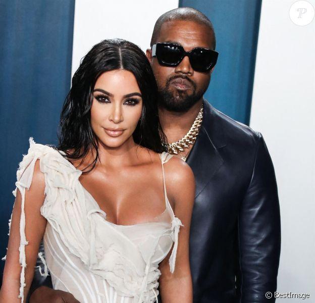 Kim Kardashian West, Kanye West - Photocall de la soirée Vanity Fair en marge de la 92ème cérémonie des Oscars au Wallis Annenberg Center for the Performing Arts à Los Angeles.