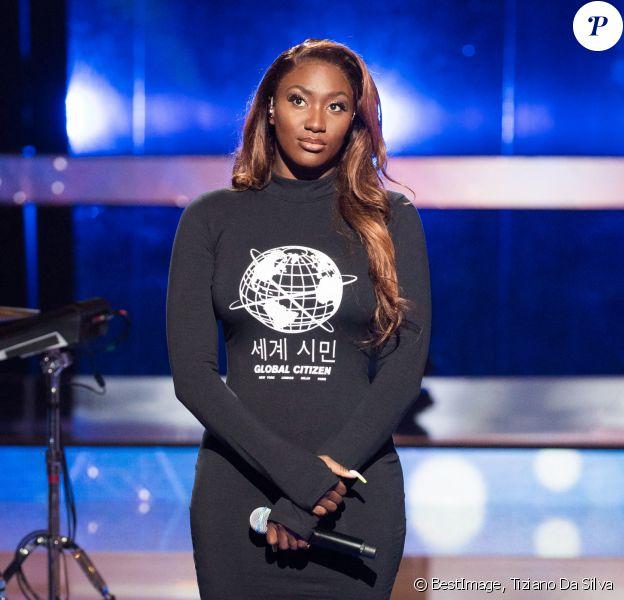Aya Nakamura - Lancement de la 33ème édition du Téléthon au Parc de la Villette à Paris. © Tiziano Da Silva / Bestimage