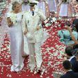 Mariage du prince Albert de Monaco et Charlene Wittstock, en 2011 au palais princier de Monaco.