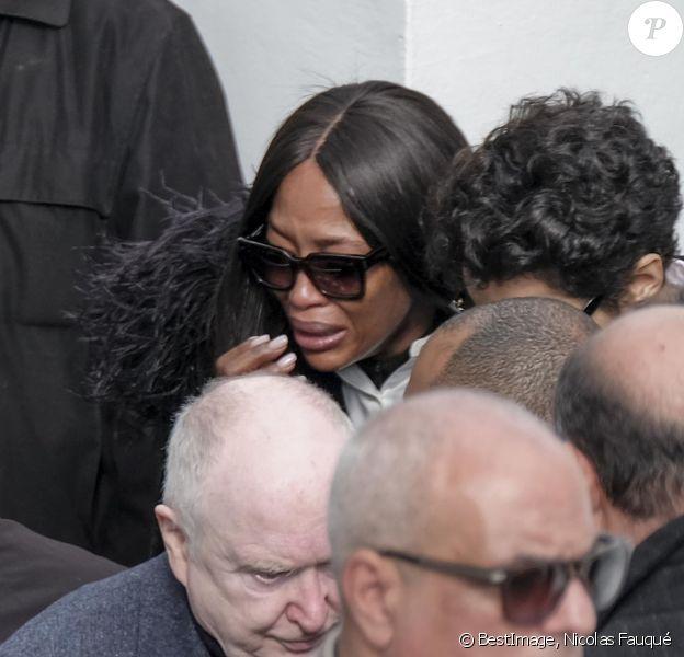 Naomi Campbell, Farida Khelfa et Christoph von Weyhe aux obsèques de Azzedine Alaia à Sidi Bou Saïd. © Nicolas Fauqué / Images de Tunisie / Bestimage