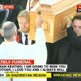 Ronan Keating, Boyzone, sa famille, ses amis et ses fans disent adieu à Stephen Gately, le 17 octobre 2009 à Dublin
