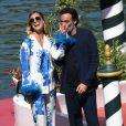 Anthony Delon et sa compagne Sveva Alvit arrivent à l'hôtel Excelsior lors de la 77e édition du festival international du film de Venise (Mostra). Le 2 septembre 2020.