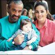 Jean-Paul Belmondo, sa fille Florence et sa petite-fille Annabelle en 1988.