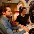 """Exclusif - Frédéric Diefenthal et Pierre Palmade - Enregistrement de l'émission """"Le Grand Restaurant"""" à Paris, qui sera diffusée le 3 février 2021 sur M6. © Jean-Philippe Baltel / Bestimage"""