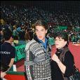 Benjamin Castaldi et sa mère Catherine Allégret à l'Open de Paris en 1995.