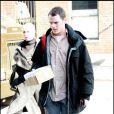 """""""Anton Yelchin sur le tournage de The Beaver, à New York. 20/10/09"""""""
