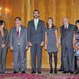 Letizia et Felipe d'Espagne au prix Prince des Asturies, à Oviedo, en Espagne. 22/10/09