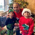 Tony Parker et ses fils Liam et Josh en décembre 2020.