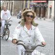 Fabienne Amiach au Green Ride de Paris (25 octobre 2009)