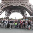 quelques présentateurs météo du monde au Green Ride de Paris (25 octobre 2009)