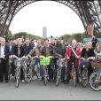 les présentateurs du monde au Green Ride de Paris (25 octobre 2009)
