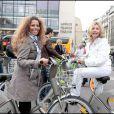 Myriam Seurat et Fabienne Amiach au Green Ride de Paris (25 octobre 2009)