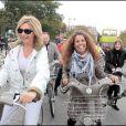 Fabienne Amiach et Myriam Seurat au Green Ride de Paris (25 octobre 2009)