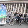 Les présentateurs météo roulent pour le Green Ride de Paris (25 octobre 2009)