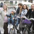 Myriam Seurat et Vaérie Alexandre au Green Ride de Paris (25 octobre 2009)
