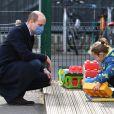 Le prince William en sortie dans une école près de Londres, le 11 mars 2021.