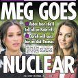 """La Une du tabloïd """"The Sun"""" au lendemain de l'interview choc de Meghan Markle et Harry avec Oprah Winfrey. Mars 2021"""
