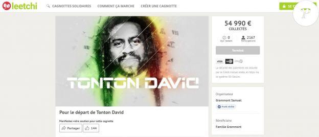 La cagnotte des enfants de Tonton David a rapporté 54 990 euros.