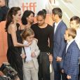 "Angelina Jolie, Vivienne, Knox, Shiloh, Zahara, Maddox et Pax Jolie-Pitt, Loung Ung, Kimhak Mun - Première de ""First they killed my father"". Le 11 septembre 2017. © Brent Perniac/AdMedia via ZUMA Wire/Bestimage"